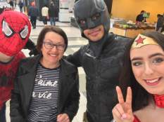 Spiderman, Ibu Anne, Batman and Wonderwoman