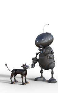 robot and pet